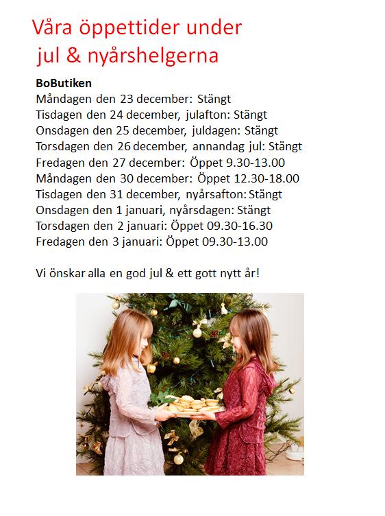 Avvikande öppettider jul 2014