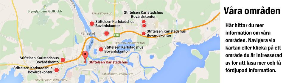 Stiftelsen Karlstadshus områden i Karlstad