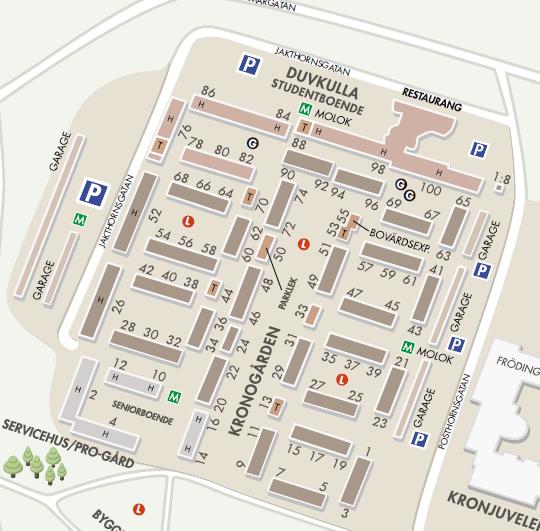 Karta Jakthornsgatan Posthornsgatan